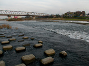 川のスレスレ