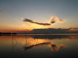 牛久沼の夕日(1)
