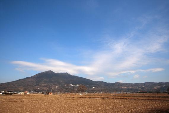 遠景から見た筑波山