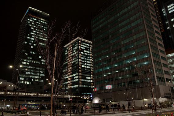 ヨドバシカメラ前の夜景
