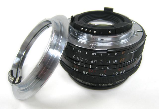 Ultron40mm とマウントアダプター