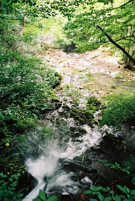千条の滝への途中