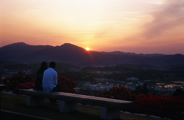 笠間の夕日